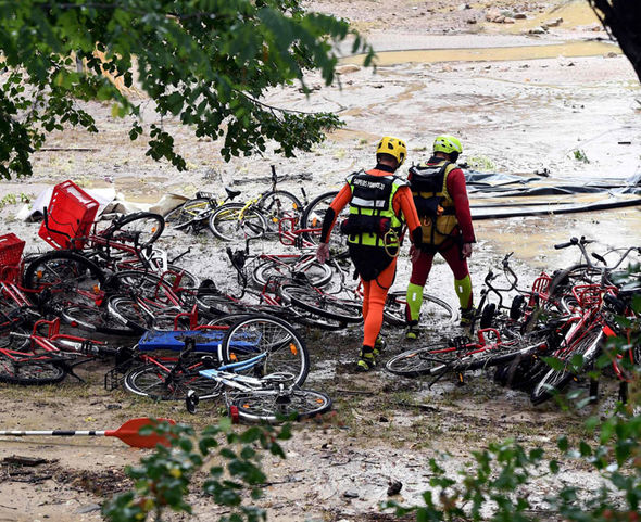 France holiday HORROR: Helicopters rescue 750 campers from FLASH FLOODS - one missing