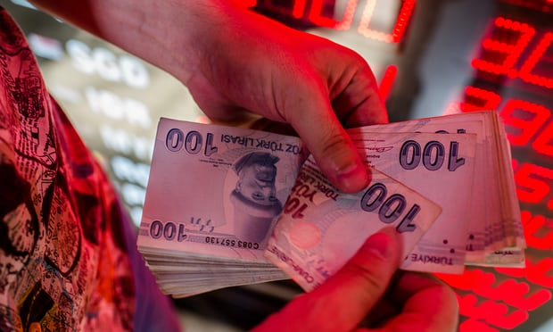 Turkish lira crisis: euro plunges as currency volatility sparks contagion fear