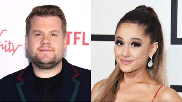 Ariana Grande and James Corden performed a musical version of Titanic; will never let go