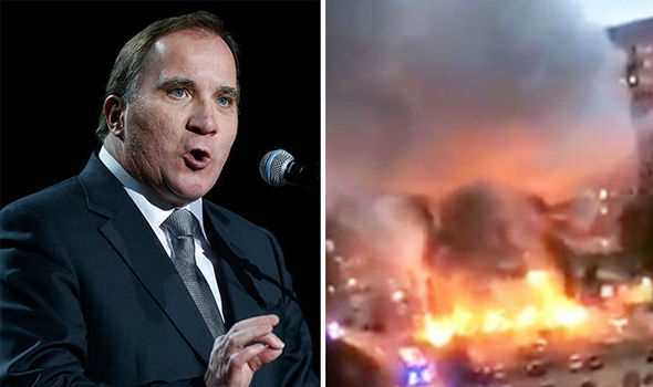 SWEDEN RIOTS: Masked gangs set FIRE to 80 vehicles in shock violence weeks before election