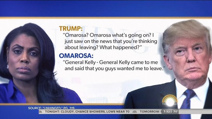 Trump hits back after Omarosa releases secret recording of president