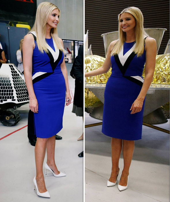 Ivanka Trump STUNS in tight blue dress as she tours intriguing Pittsburgh space facility