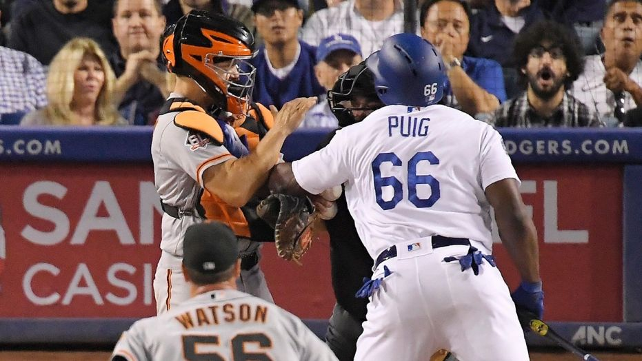 Like old times: Dodgers, Giants brawl as pennant race heats up