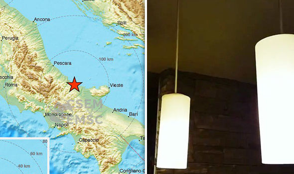 Italy earthquake: WATCH moment 5.2 quake hits Italy - fears over Volcano Vesuvius ROCKET