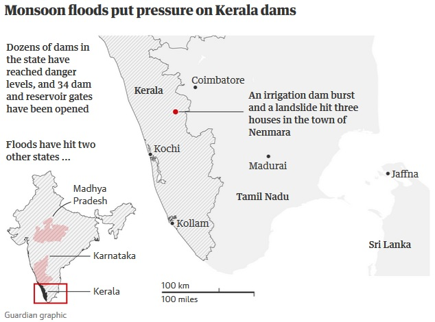 Kerala floods: death toll rises above 324 as rescue effort intensifies