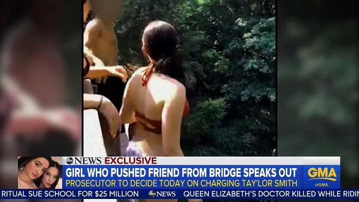 Washington teen who pushed friend off 60-foot bridge says she thought she would be fine