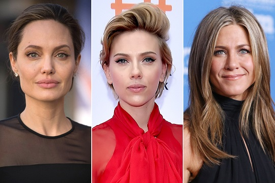 The highest-paid actresses in the world: Johansson, Jolie, Aniston