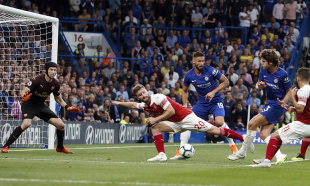 Marcos Alonso strikes late as Chelsea beat Arsenal in five-goal thriller