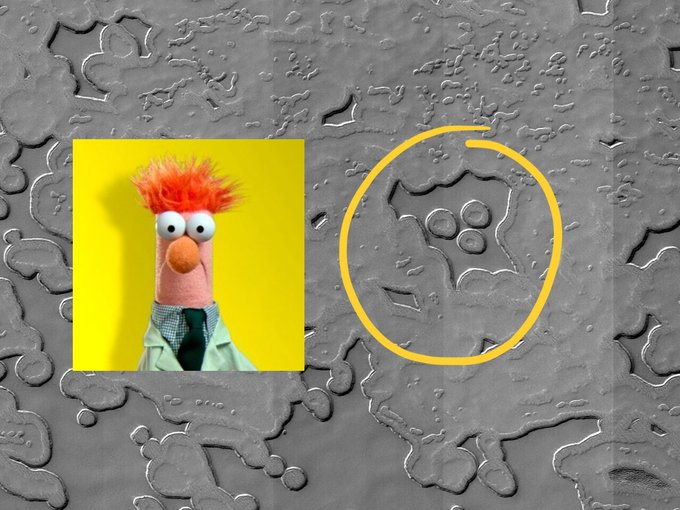 NASA is having a hard time unseeing Beakers face on surface of Mars