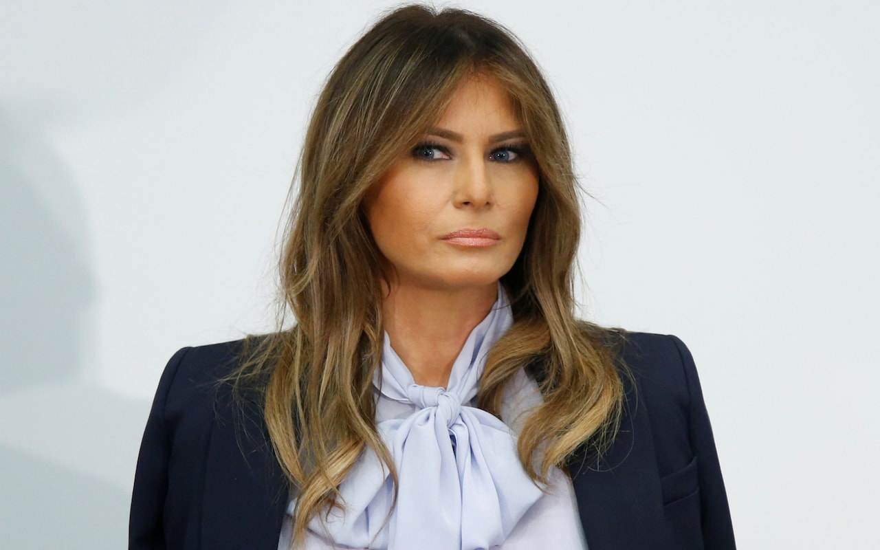 Melania Trump warns of destructive and harmful social media use - as husband attacks opponents on Twitter