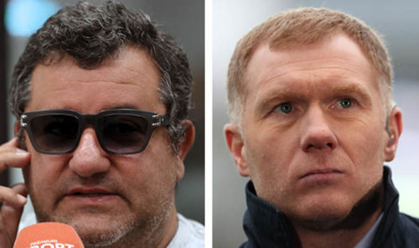 Man Utd in CHAOS as Mino Raiola lets rip at Scholes in STUNNING outburst over Paul Pogba