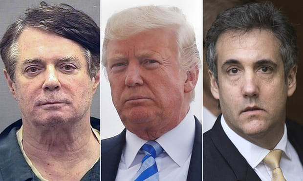Donald Trump suffers worst houras Manafort and Cohen both guilty