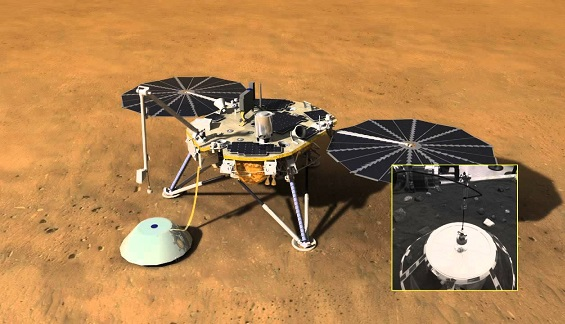 NASAs InSight Spacecraft Halfway To Mars, All Instruments Working Well