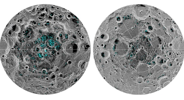 Ice Confirmed at Moons Poles, NASA Says
