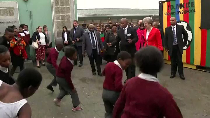 Theresa May Has Been Dancing With Schoolchildren And Everyone Is Confused