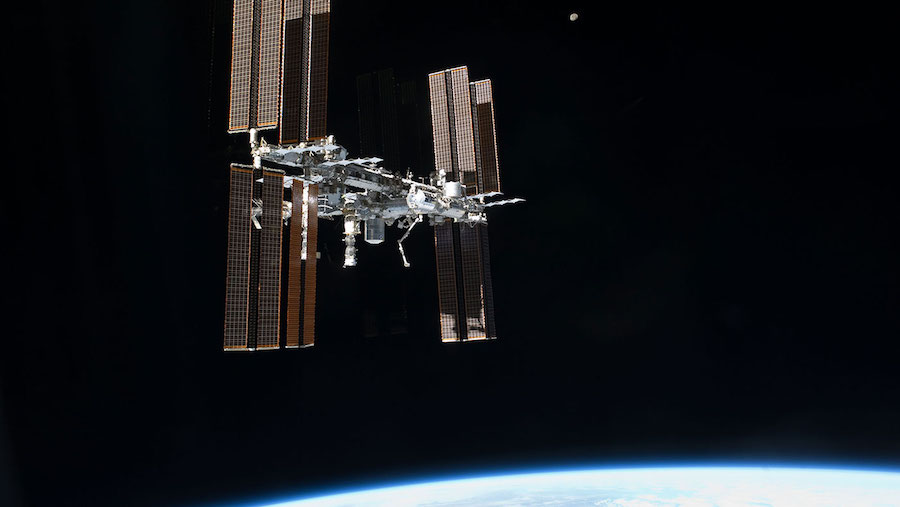 International Space Station losing air to tiny hole, astronauts safe