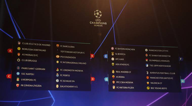 UEFA Champions League Draw: Manchester United land Juventus, Barcelona in group of death