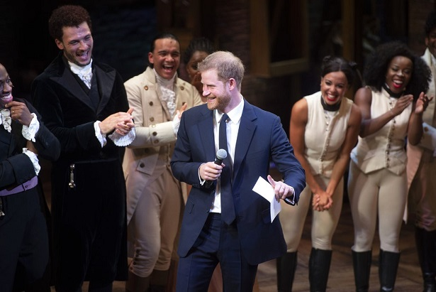 Prince Harry Joins Hamilton Cast Onstage, and Breaks Into Song