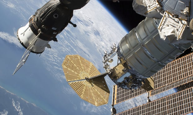 International Space Station crew repair leak in Russian craft