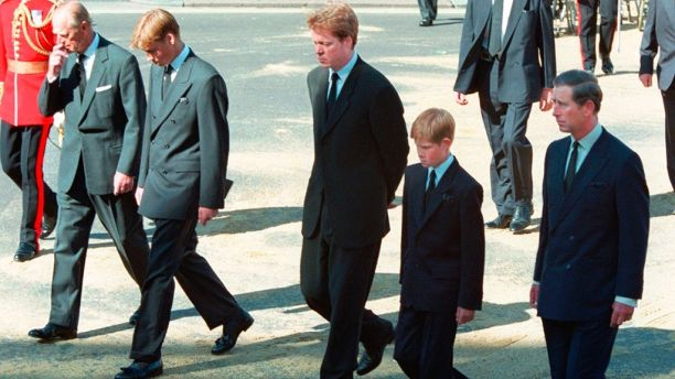 Prince Harry knew how to save himself from collapsing in grief during Princess Dianas funeral, book claims