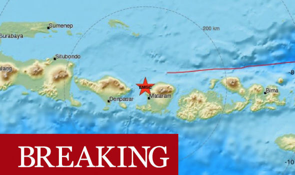 Indonesia earthquake: Lombok hit by SECOND earthquake today - Bali rattled