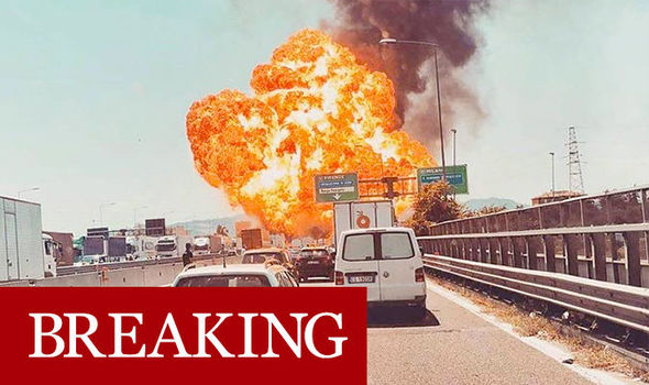 Bologna EXPLOSION: Massive fireball rockets into sky near Italy airport – shock footage