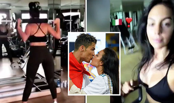 Cristiano Ronaldo: Juventus star's girlfriend Georgina Rodriguez nearly spills out of top
