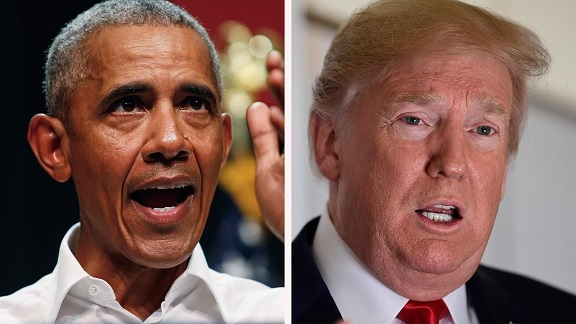 Trump fires back at Obama, boasts hes got magic wand on economy