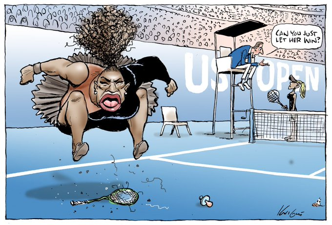 Cartoonist defends controversial portrayal of Serena Williams