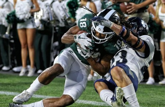 No. 12 Michigan State escapes Utah States upset bid late