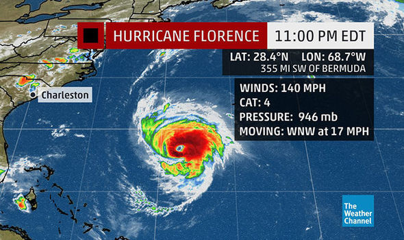 Hurricane Florence: Terrifying storm could be upgraded to Category 5 before landfall
