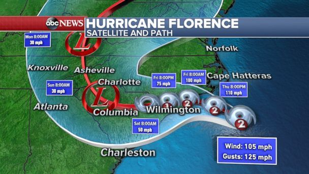 More than 185000 without power as Hurricane Florence lashes North Carolina coast
