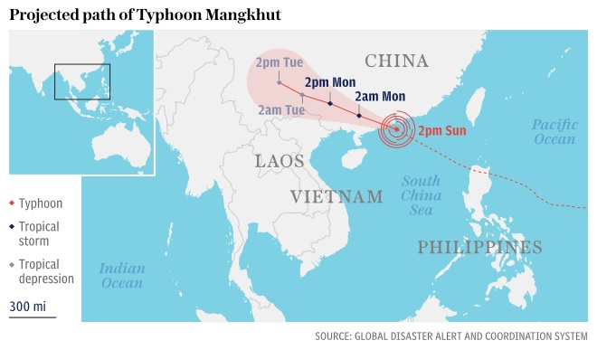 Typhoon Mangkhut lashes Hong Kong after killing 49 in the Philippines
