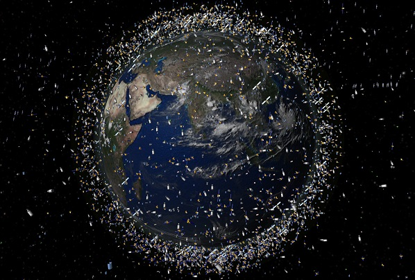 Amazing footage shows a net being shot through outer space to clean up dangerous space debris