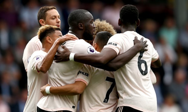 Lukaku double gives Manchester United victory but Rashford sees red at Burnley