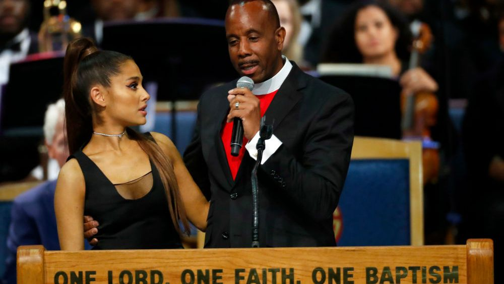 Bishop Apologizes to Ariana Grande for Too Friendly Grope During Aretha Franklin Funeral