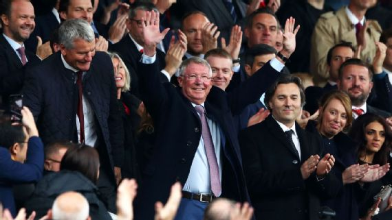 Sir Alex Ferguson makes Old Trafford return