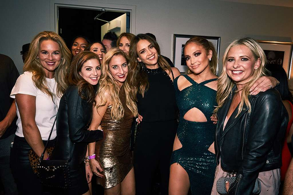 Jennifer Lopez Parties With Selena Gomez and Other Top Female Stars Backstage at Her Show