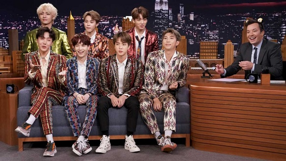 BTS Shows Jimmy Fallon Their Best Video Game Moves In Epic Fortnite Dance Challenge