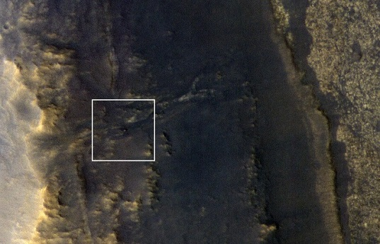 Silent Opportunity Mars Rover Spotted from Space