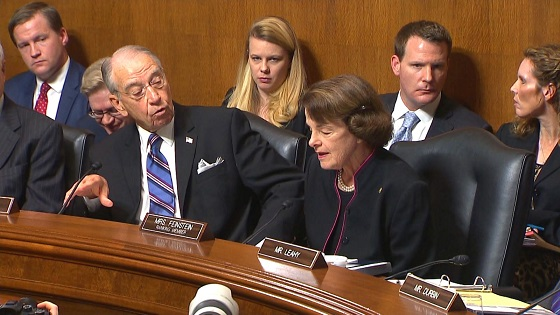 Partisan tensions: Republican chair interrupts Feinstein