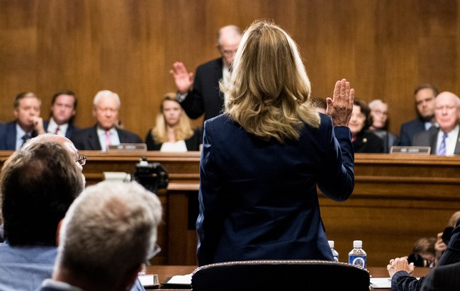 The Senate Republicans' Less-Than-Human Treatment of Christine Blasey Ford