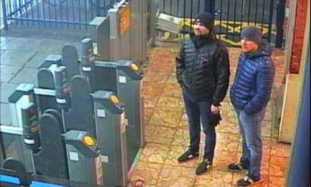 Salisbury novichok poisonings: police name two Russian suspects