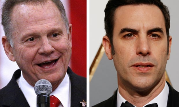 Roy Moore sues Sacha Baron Cohen for $95m over Who Is America? stunt