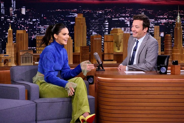 Watch Kendall Jenner Nail Her Very First Okurrr! on The Tonight Show