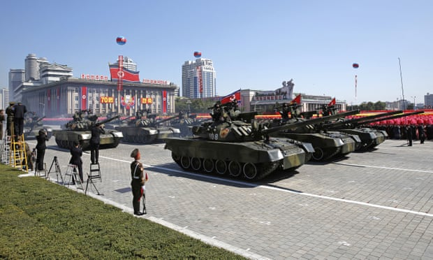 North Korea stages huge military parade to mark 70th anniversary