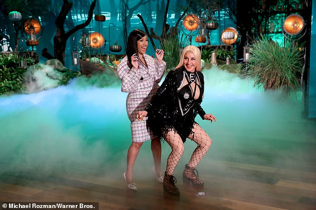 Cardi B and Ellen DeGeneres (Cardi E!) twerk for Halloween