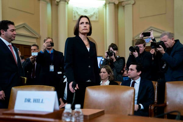 Impeachment hearings: Fiona Hill rejects Republicans 'fictional narrative' Ukraine meddled in US election