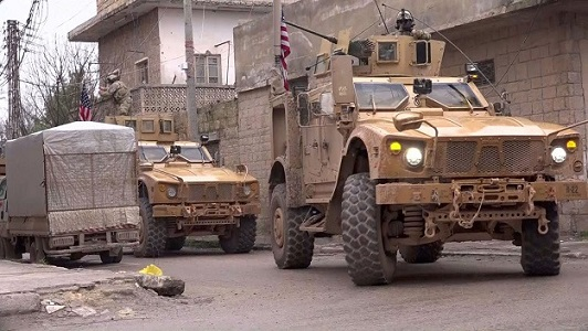 American service members killed in Isil blast near US patrol in Syrias Manbij