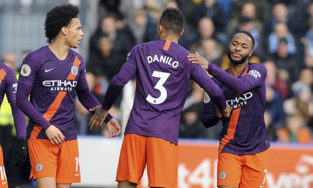 Sterling and Sané ensure Manchester City cruise to victory at Huddersfield